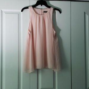 Sheer soft pink tank top